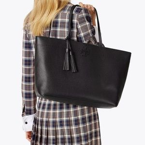 Tory Burch Mcgraw Tote Bag Handbag- Green or Black